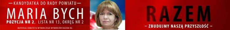 Maria Bych - mat. sfinansowany przez KWW Razem KG