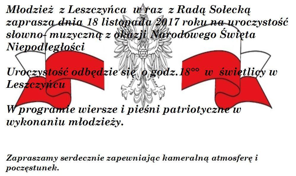 święto Niepodległości W Leszczyńcu Powiatowainfo