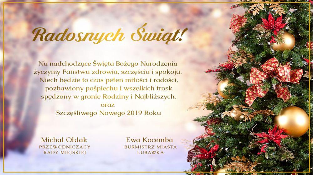 Boże Narodzenie 2018 Urząd Miasta Lubawka Powiatowainfo